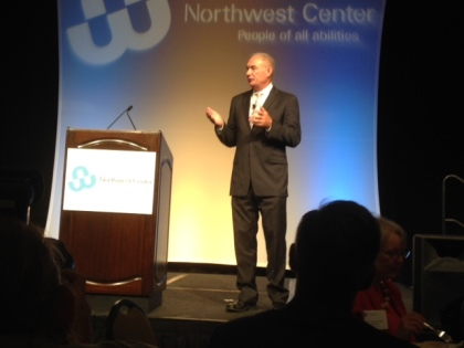 Randy Lewis, former Walgreens Vice President and Author, speaks on behalf of the Northwest Center